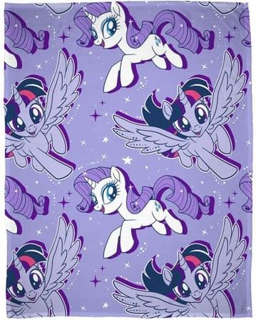 "Official My Little Pony Movie ""Adventure"" Character Fleece Blanket Snuggle Throw"