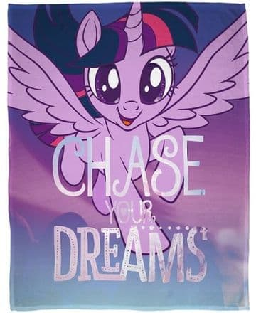 "Official My Little Pony Movie ""Adventure"" Character Fleece Blanket Snuggle Throw  Chase"