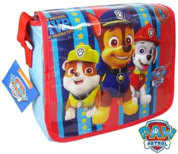 "Official PAW Patrol ""Chase, Marshall & Rubble"" Messenger Shoulder Bag ""Perfect For School"