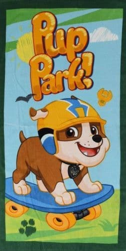 "Official PAW Patrol ""Pup Park"" Character 100% Cotton Velour Beach Towel"