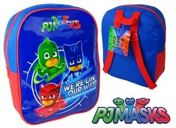 "Official PJ Masks ""Gekko, Catboy & Owlette"" Character Junior School Backpack"