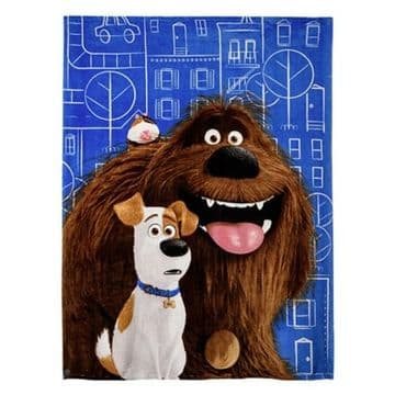 "Official Secret Life of Pets ""City"" Character Coral Fleece Blanket Snuggle Throw"