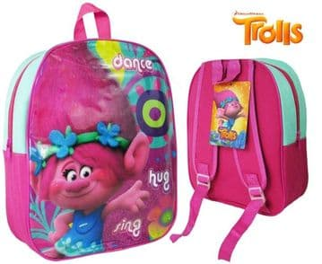 "Official Trolls ""Poppy"" Character Junior School Backpack"