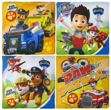 "PAW Patrol ""Marshall, Chase & Rubble"" Character Filled Cushion Pillow"
