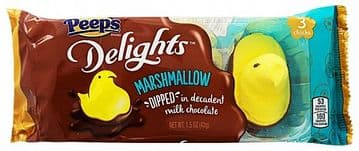 Peeps Delights Milk Chocolate Dipped Yellow Chicks (3ct) (US)