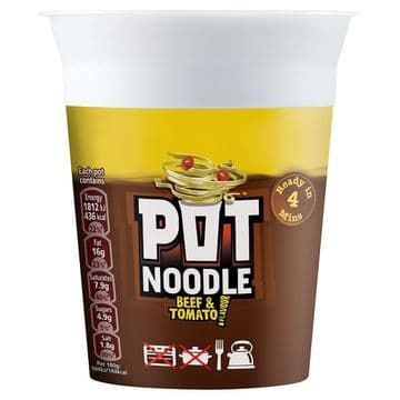 Pot Noodle Beef & Tomato 90g (UK)