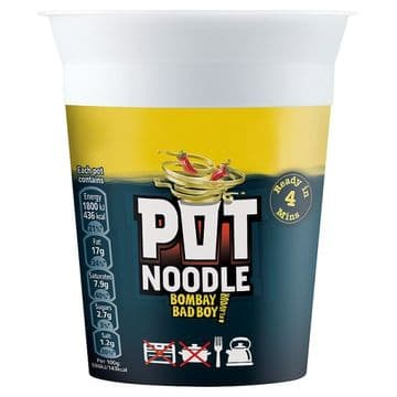 Pot Noodle Bombay Bad Boy  (UK)