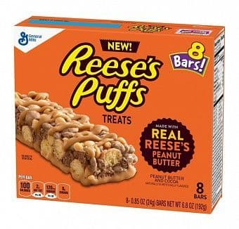 Reese's Puffs Treats Bars 8 Pack 192g ( US )