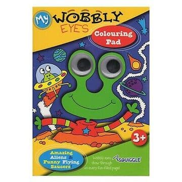 Squiggle Squiggle My Wobbly Eyes Colouring Pad Amazing Aliens