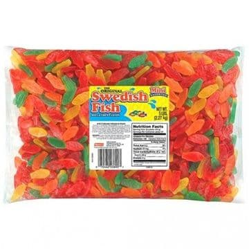 Swedish Fish Mini Assorted BULK 5lb (2.27kg) ( US )