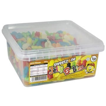 Sweetzone Jelly Babies  Tub 600  1p  Sweets ( UK )