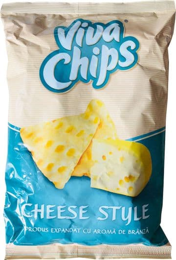Viva Chips Cheese Style 100g packet (Romania)