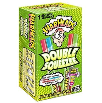 Warheads Double Squeeze Freeze  Extreme Sour 12 Pack ( UK )