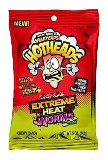 Warheads Hothead Extreme Heat Worms Tropical (142g) (US)