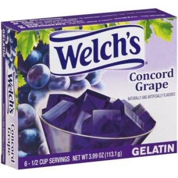 Welch's Concord Grape Gelatin 3.99oz (113.1g)  (US)