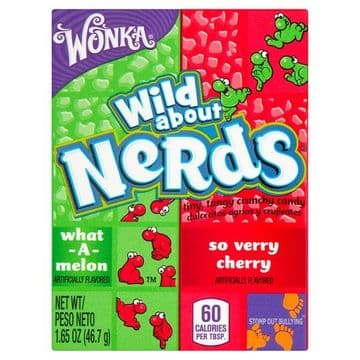 Wonka Nerds Wild Cherry and Watermelon Flavour