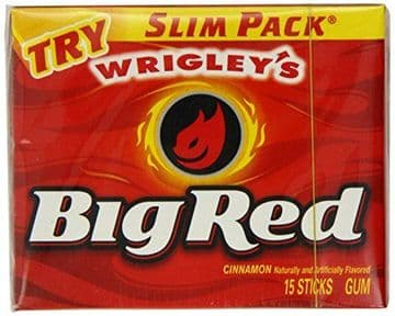 Wrigleys Big Red Cinnamon Chewing Gum (15 sticks)  (US)