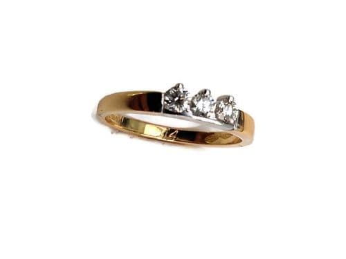 18 ct Yellow Gold Trilogy Diamond Ring