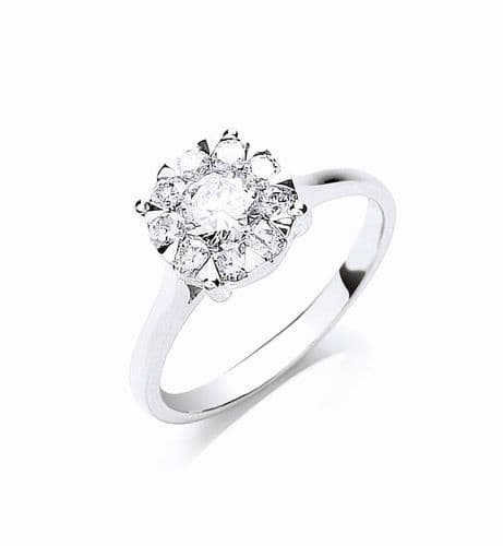 18ct White Gold 0.99ct  Diamond Ring