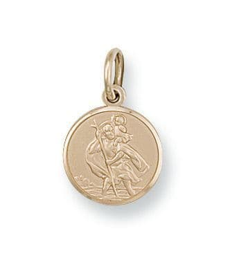 9 ct Gold St Christopher Pendant