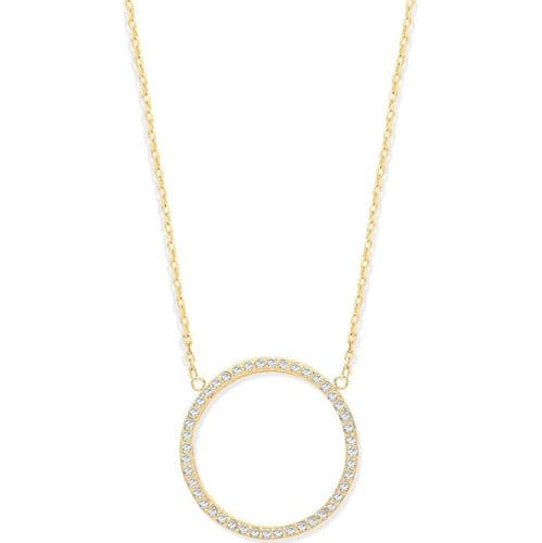 9ct Gold Circle of Life CZ Necklace