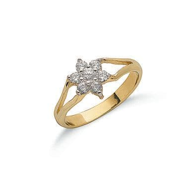 9ct Gold CZ Baby Ring