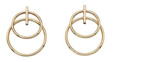 9ct Gold Double Open Circle Earrings