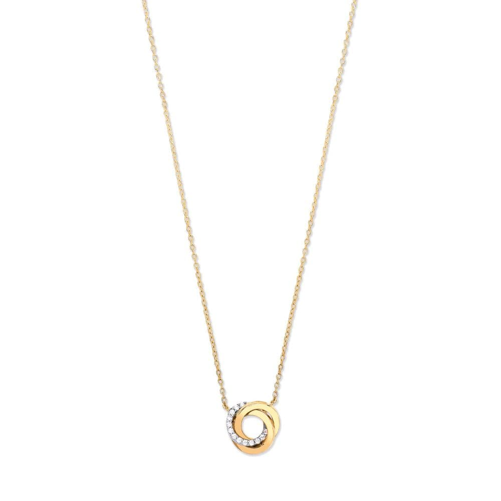9ct Gold Entwined 3 Circles Necklace
