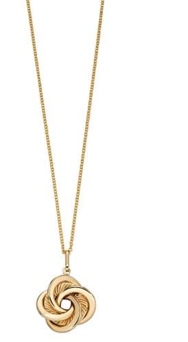 9ct Gold Entwined Swirl Necklace