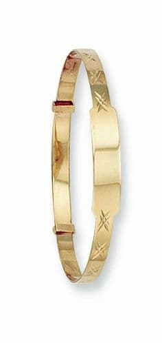 9ct Gold Expandable ID Baby Bracelet