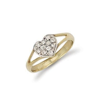 9ct Gold Heart Baby Ring