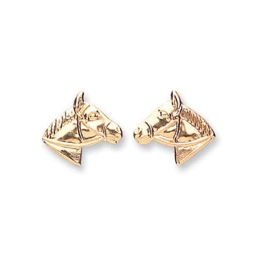 9ct  Gold Horse Studs