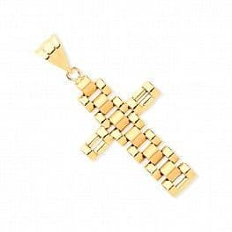 9ct Gold Rolex Style  Cross