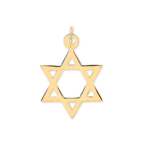 9ct Gold Star Of David Pendant