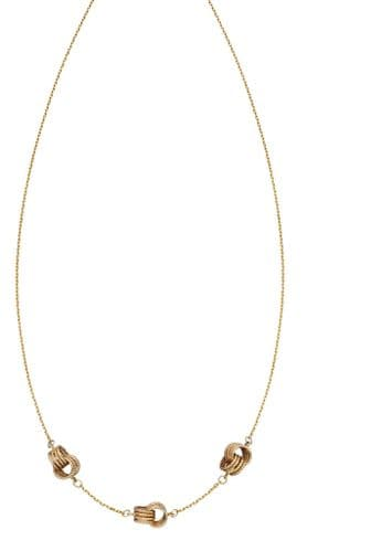 9ct Gold Textured Knot Necklace