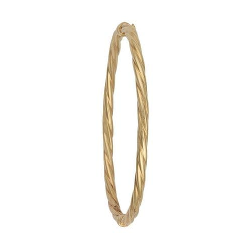 9ct  Gold Twisted Hollow Bangle