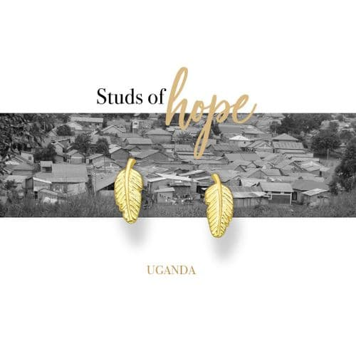 Feather Studs - Uganda