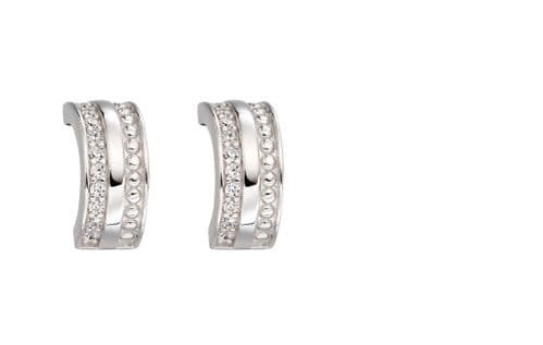 Fiorelli Barrel Textured Huggie Hoop Earrings