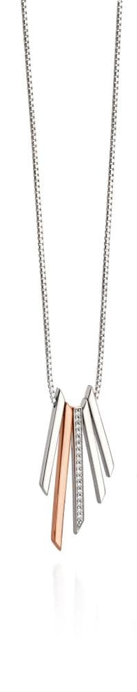 Fiorelli Rose Gold Clear Cubic Zirconia Drop Necklace