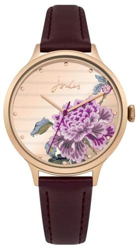 Joules Bloom Purple Strap Watch