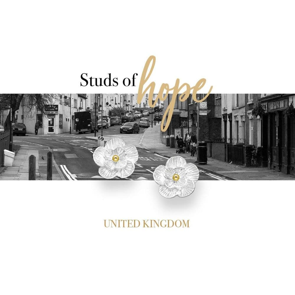 Silver and Gold Flower Studs - UK