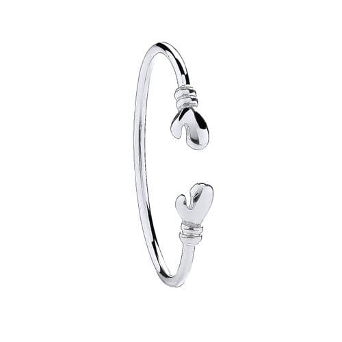 Silver Boxing Glove Baby Bangle