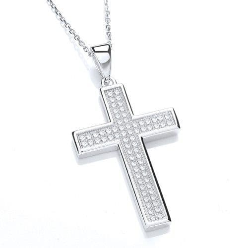 Silver Micro Pave Necklace