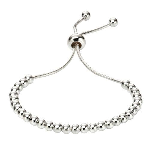Silver Polished Ball Toggle bracelet