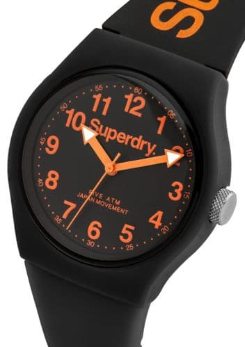 Superdry Analogue Quartz Watch with Silicone Strap