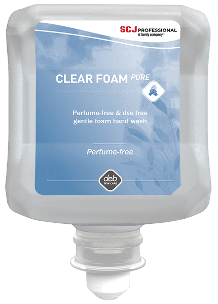 DEB CLR1L Clear Foam Washroom Hand Wash 1L