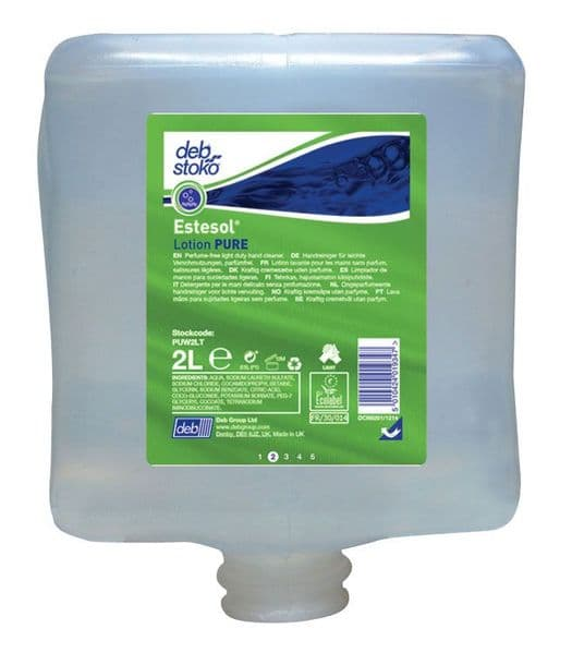 DEB PUW2LT Estesol Lotion Light Duty Hand Cleaner 2L