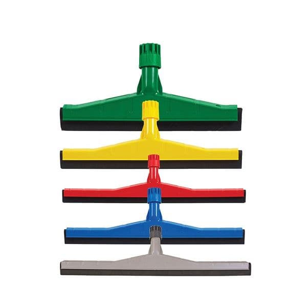 Heavy Duty Floor Squeegee 45cm Available in Blue, Green, Red & Yellow