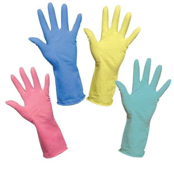 Household Latex Glove Pair, Available in a range of Colours and Sizes