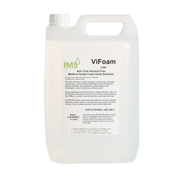 IMS Hygiene 5Litre Anti Viral Alcohol Free Medical Grade Foam Hand Sanitiser